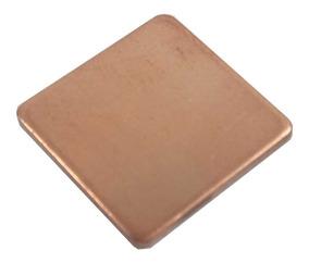Dissipador Chapa Cobre P/ Chipset Processador 15x15mm 0,5mm