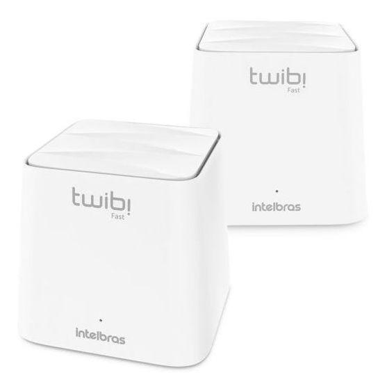 Conjunto Roteador Wi-fi Mesh Twibi Fast Intelbras - Branco