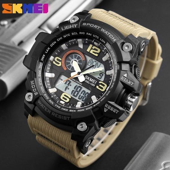 Relógio Skmei Original Modelo 1155 S-shock Militar Novo Ofer