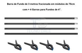 Barra Para Fundo Fotográfico De 3 Metros Com 4 Garras De 4