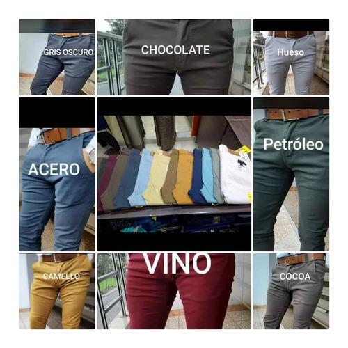 Pantalones Drill Slim Fit Pitillo Stretch Hombre Mercado Libre