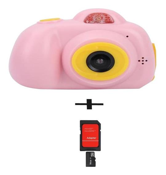 Camera Fotográfica Digital Infantil + Cartão De Memória 16gb