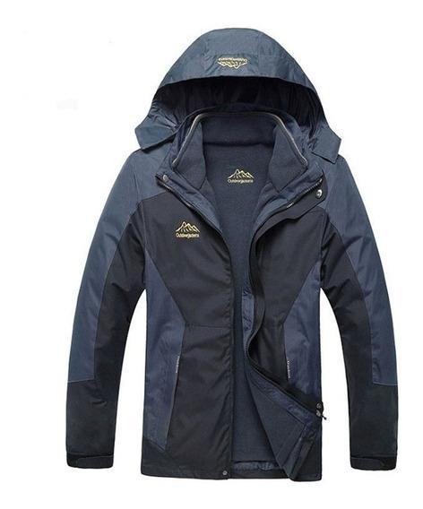 Casaco + Jaqueta Fleece Inverno-30°c Prova Água/vento 3 X 1