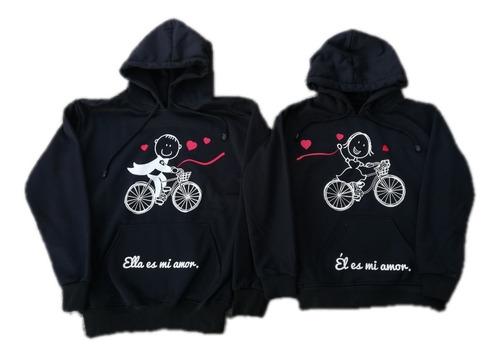 Pareja Novios Busos Bicicleta