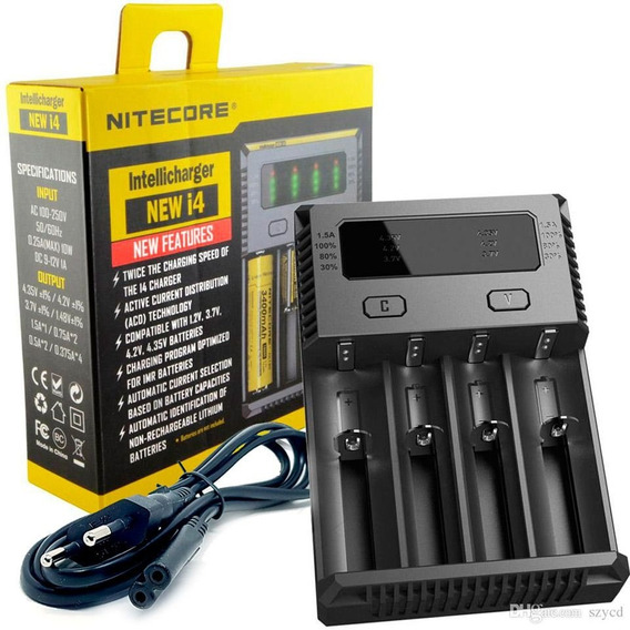 Carregador De Bateria 18650 Nitecore New I4 18650