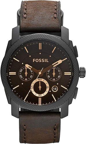 Reloj Fossil Cronografo Fs4656 De Cuarzo En Cuero