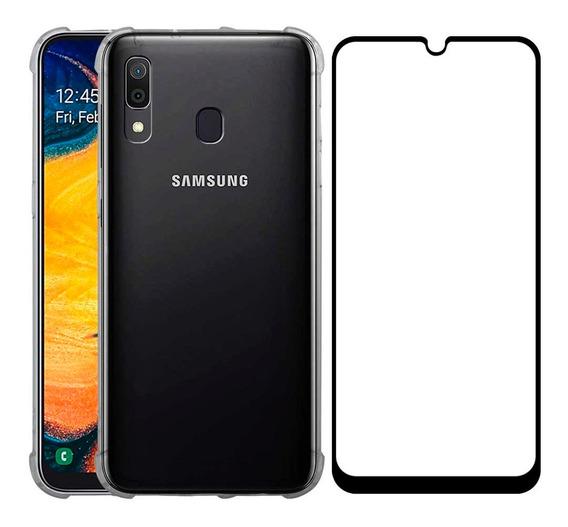 Funda Samsung Galaxy Case Uso Rudo Transparente + Mica 5d