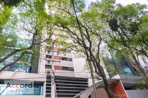 Flat Com 1 Dormitório À Venda, 38 M² Por R$ 220.000,00 - Batel - Curitiba/pr - Fl0001