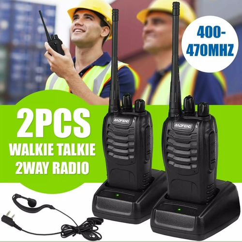 Radio Baofeng 888s Uhf 400-470mhz + Manos Libres Pack 2