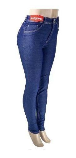 Calça Jeans Feminina Biotipo Skinny Com Detalhe Bolsos Roupa