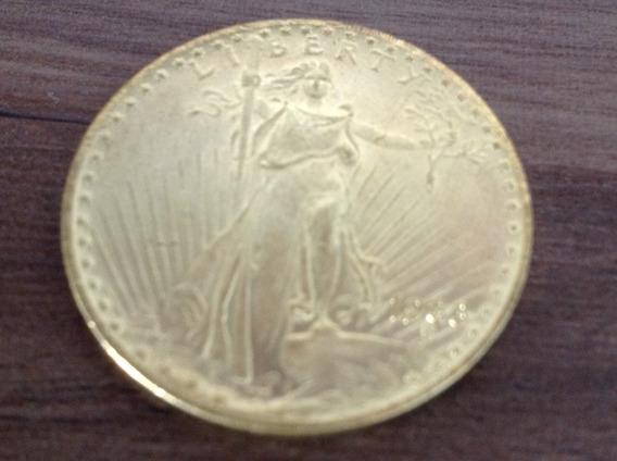 Magnifica Rara E Valiosa Moeda U$ 20 Usa Réplica Ouro 1933