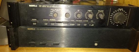 Pré-amplificador Np-1900 E Amplificador Na-500 - Nasville