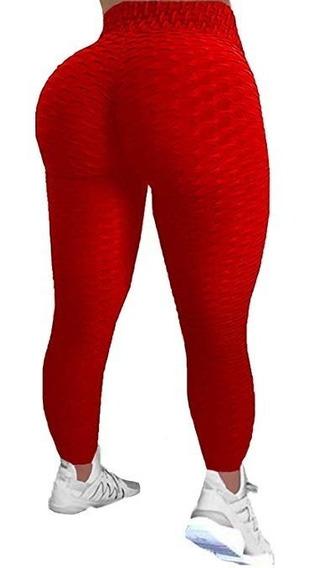 2 Leggins Anti Celulitis Brasileño Butt Lift Rojo Morado Gr