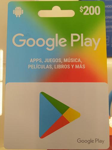 Imagen 1 de 1 de Tarjeta $200 Google Play Envío Full