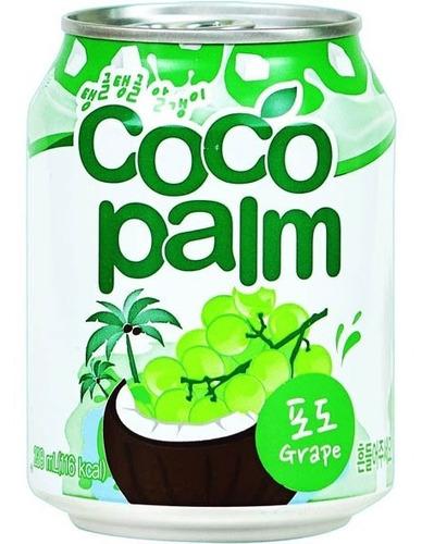 Imagen 1 de 1 de Coco Palm Bebida Coreana Sabor Uva Con Trozos De Coco 238ml