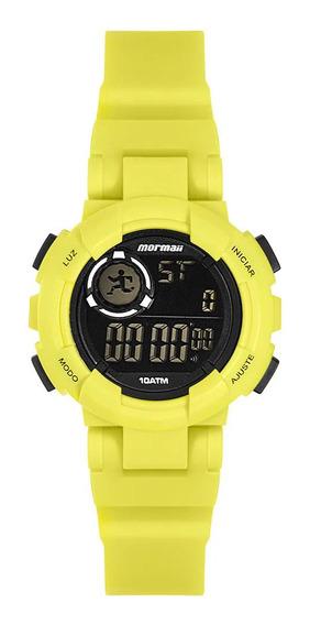 Relógio Infantil Digital Mormaii Amarelo Neon Original+nf