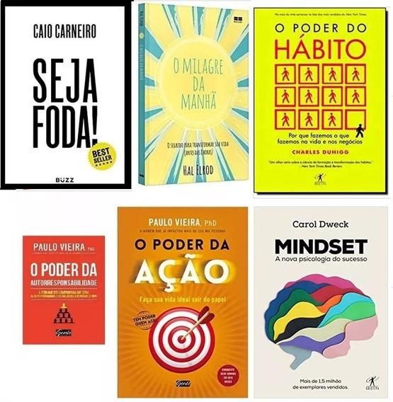 Mindset + O Poder Do Hábito + Seja Foda! + 3 Livros