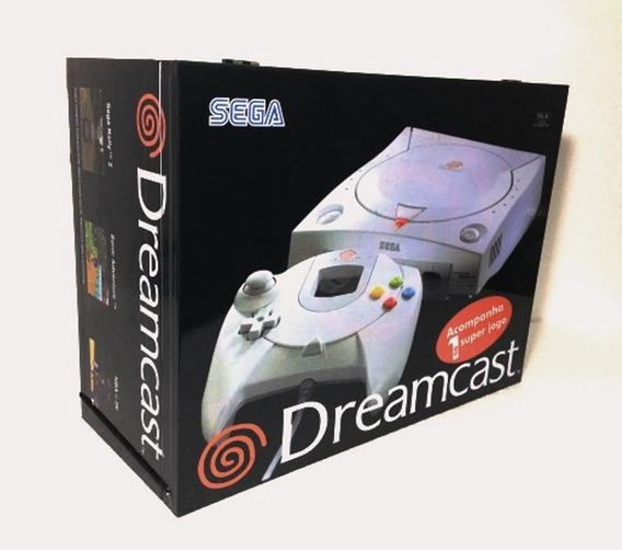 Caixa Vazia Sega Dreamcast De Madeira Mdf