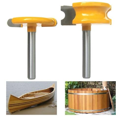 Set 2 Fresas Tupi De  1/4' Y 1/2 Ideal Para Barriles Canoas