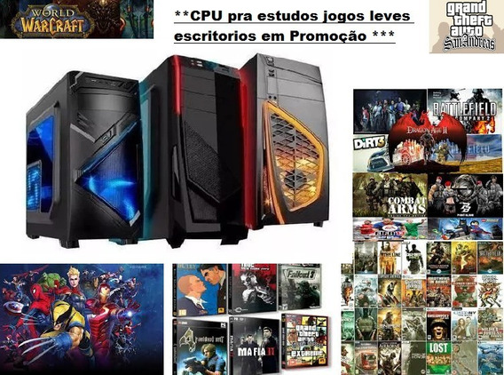 Cpu Pc Gamer Barato 4gb ²core Corel Autodesk Estudos Lol Et2