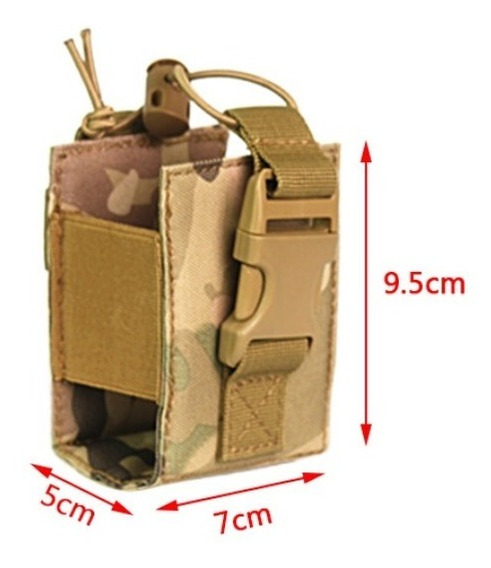 Porta Rádio Bolsa Modular Baofeng Tan Multicam Airsoft