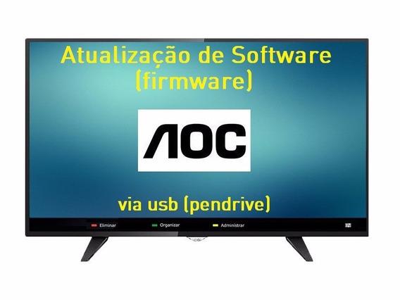 Atualização De Software Firmware Para Tv Aoc Le49f1465