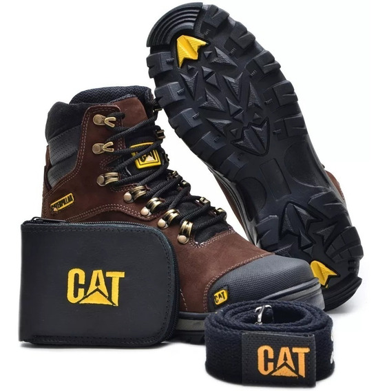 Bota Caterpillar Original +cinto +carteira Kit 2 Pares