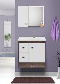Gabinete Para Banheiro Malbec Suspenso + Cuba + Espelheira