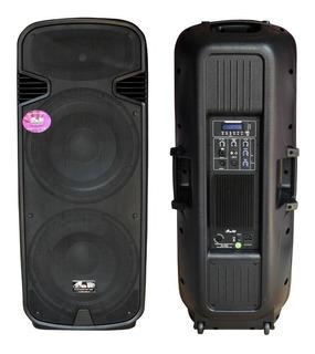 Bafle Activo 2x15 2000w Usb Bluetooth Linea Pro Mp3