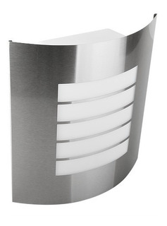 Luminaria De Pared Decorativa Acero Inox Led Exterior Ade005