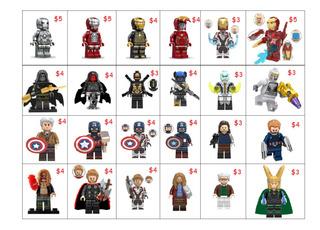 Figuras Tipo Lego Avengers Marvel, Dc Juguete Niño Niña