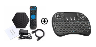 Convertidor Tv Box 4k 2gb/16gb Octa Core T95z Plus +teclado