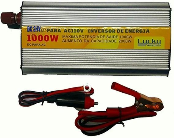 Inversor De Voltagem Automático Veicular 24v Para 110v 1000w