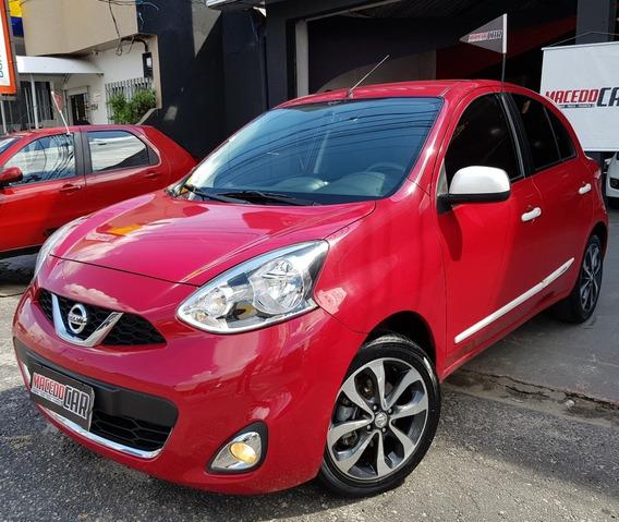Nissan March 1.6 Sl 2016 Vermelho