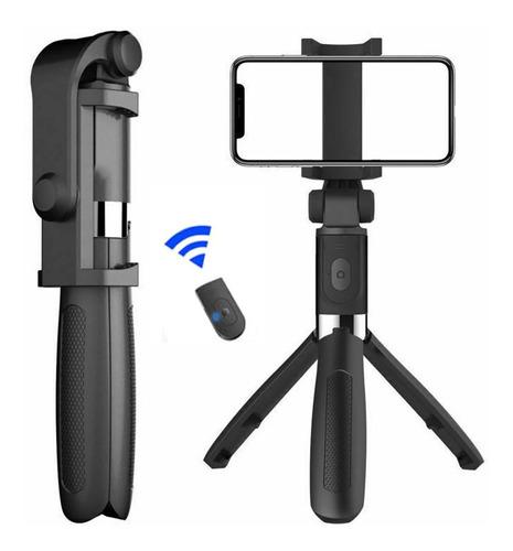 Imagen 1 de 10 de Trípode Inalámbrico Bluetooth Selfie Stick Con Mando A Dista