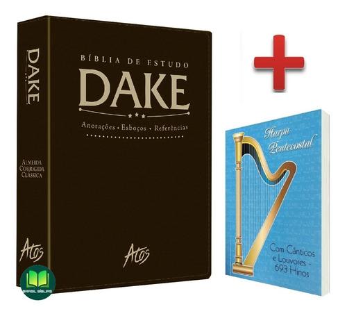 Bíblia De Estudo Dake Para Pastores E Lideres + Harpa