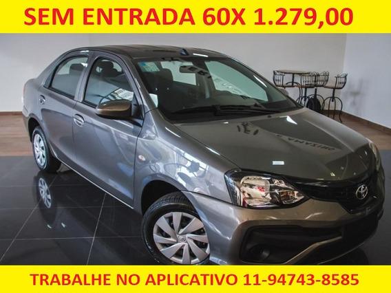 Toyota Etios 1.5 X 2019 Mec Completo