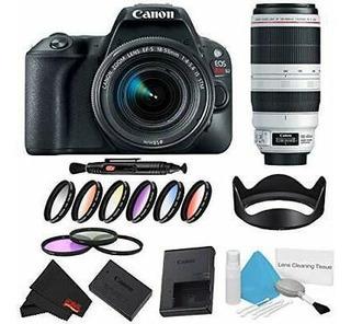 Canon Eos Rebel Sl2 Cámara Dslr +18-55mm Lente (negro) K-933