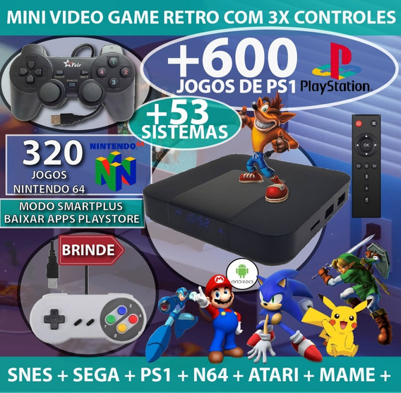 Retro Game Plus + 320 Jogos N64 + 53 Sistemas + Mario Kart +