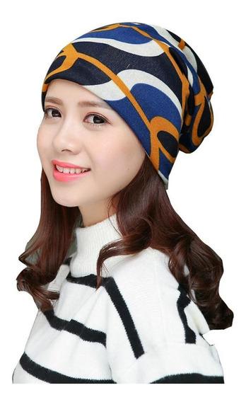 Moda Mujer Raya Sombrero Elástico De Punto Gorros Sombreros