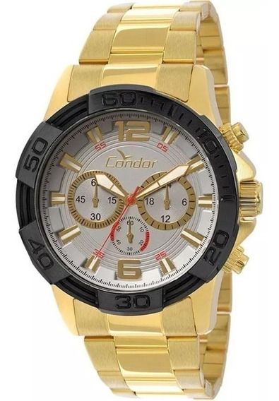 Relógio Cronógrafo Masculino Condor Dourado Covd54aa/4k