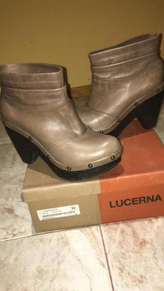 Botinetas Lucerna .mujer 37/38 Con Plataforma