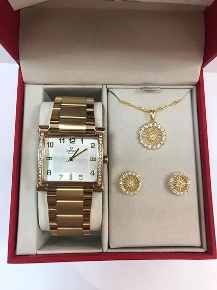 Relógio Feminino Champion Cn28768w + Kit = 49