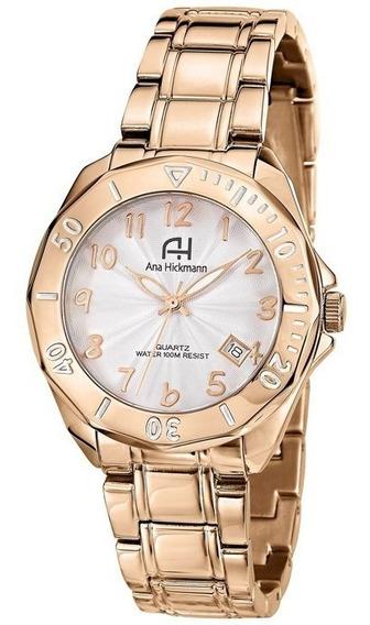 Relógio Feminino Ana Hickmann Analógico Ah28624z Rosê