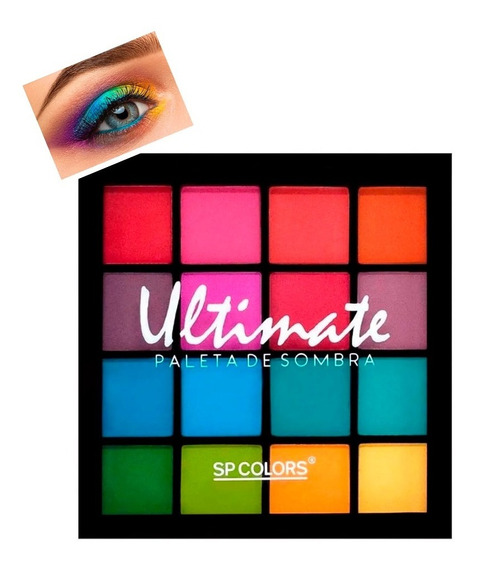 Paleta De Sombra Ultimate Sp Colors 16 Cores