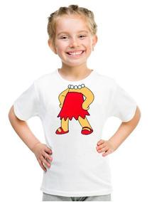 Camiseta Lisa Simpsons Moda Infantil Roupa Blusa Menina