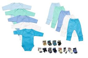 Kit Body Calça Mijão E Meias 22 Peças Para Bebês Feminino