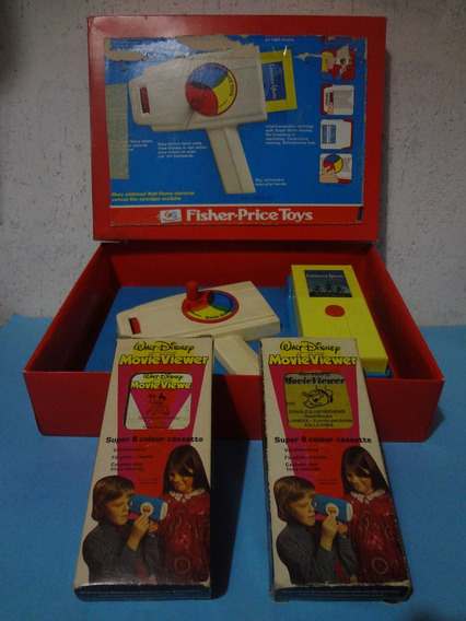 Antiga Filmadora Fisher Price - Movie Viewer + 3 Filmes !!