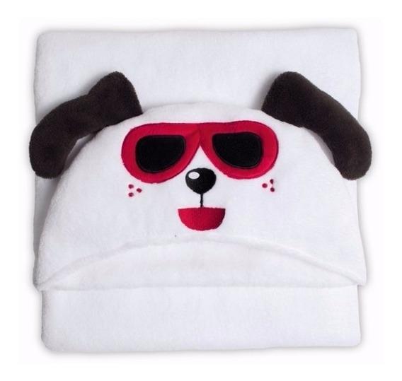 Manta Cão Branco Bouton Promoção Queima De Estoque