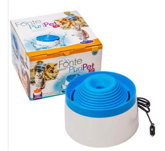 Fonte Para Gatos De Agua Corrente Filtro Puripet 2 Litros